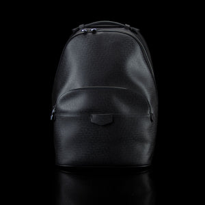 Louis Vuitton-Backpack-11.1 x 16.4 x 6.2 inches Taiga cowhide leather Cowhide leather trim Textile lining Silver-color metal hardware Top handle Zip closure Adjustable and non removable textile shoulder straps Front zipped compartment Mesh back 1 internal padded laptop compartment 2 internal flat pockets-fabriqe.com