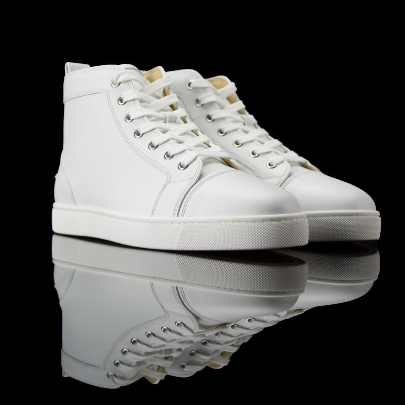 Christian Louboutin-Louis Flat High-Product: 3091177 Colour: White Discontinued Material: Leather-fabriqe.com