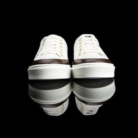 Louis Vuitton-Stellar Sneakers-Calf leather and patent Monogram canvas White Rubber outsole Made in Italy-fabriqe.com