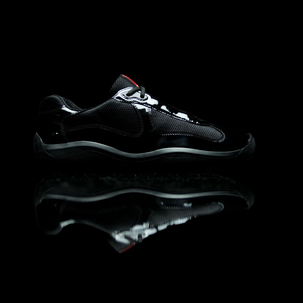 Prada-Americas World Cup-Product Code: PS0906 Colour: Nero-Black Patent Classic Material: Patent Leather, Mesh-fabriqe.com