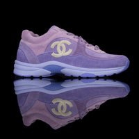 Chanel-CC Sneakers-Pre Order Duration (3-5 Working Days) CC Logo on side Purple Suede, Rubber Sole 2019 Release Limited Stock Chanel CCs crafted in a suede material with sports CC branding on the side. Composed on rubber sole that carries Chanel typography. Also, the colour of Purple is sure to grab the spotlight! In addition, the 2019 limited release is now available-fabriqe.com