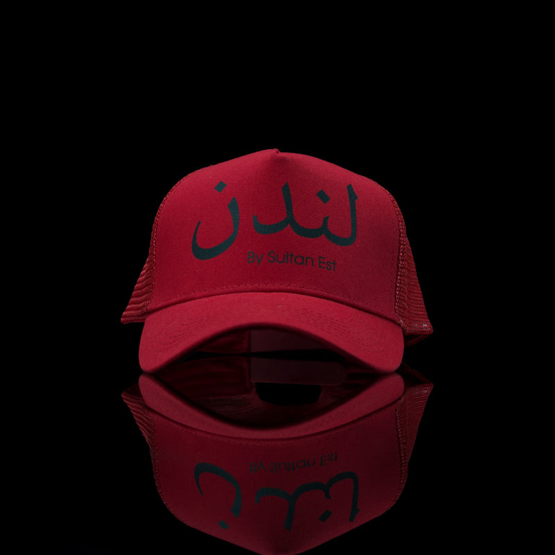 Sultan Est-Cap-London (Arabic) One Size Fits All Red Black-fabriqe.com