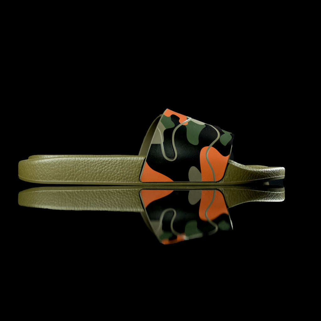 Valentino-Slides-Product Code:MY020873 Colour: Multi-Green Orange Camo Discontinued Material: PVC-fabriqe.com