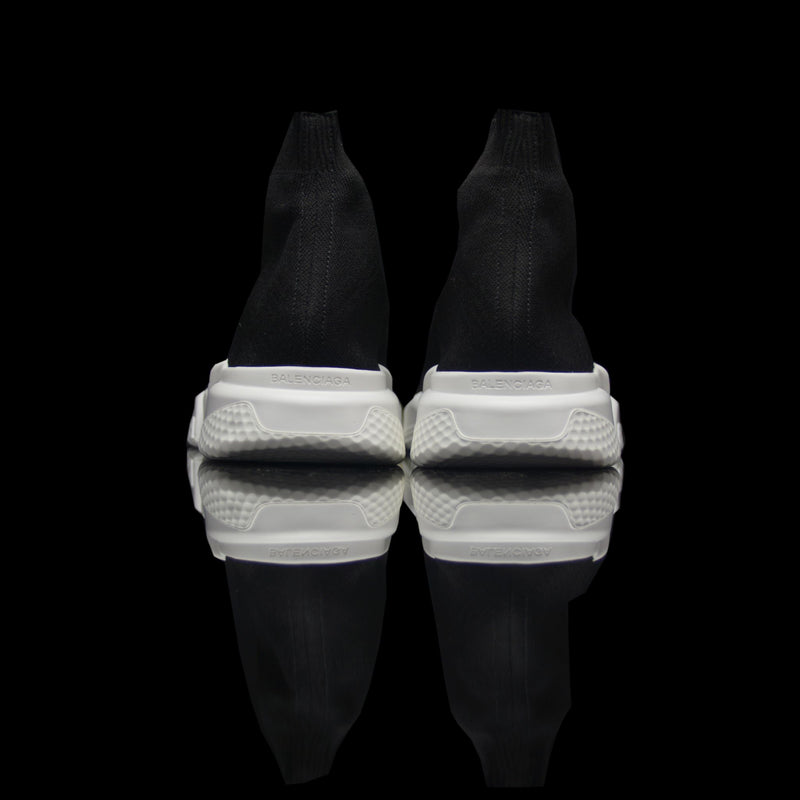 Balenciaga-Speed Knit-Product Code: 483502 W05G0 1000 Colour: Noir - Black White Limited Stock Material: Textile Sock, Rubber Sole Balenciaga Speed Knit Sock Racer Mid sneakers-fabriqe.com