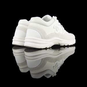 Chanel-CC Sneakers-Pre Order Duration (3-5 Working Days) CC Logo on side White Rubber Sole 2019 Release Limited Stock-fabriqe.com