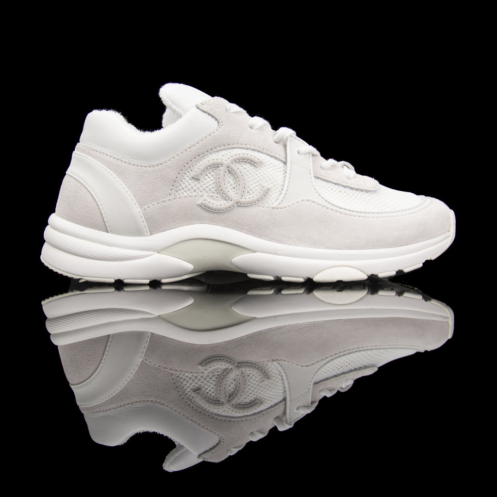 CC Sneakers Suede Leather Mesh Reflective