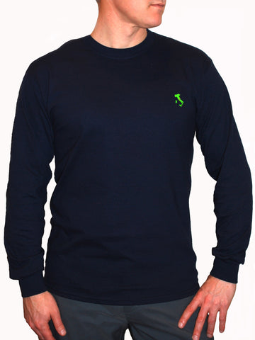 The Italy Long T-Shirt™ - Navy - Shirts of the World