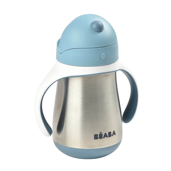 Beaba Stainless Steel Straw Cup - Windy Blue