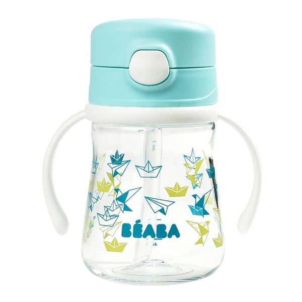 Beaba Straw Cup 240ml - Blue