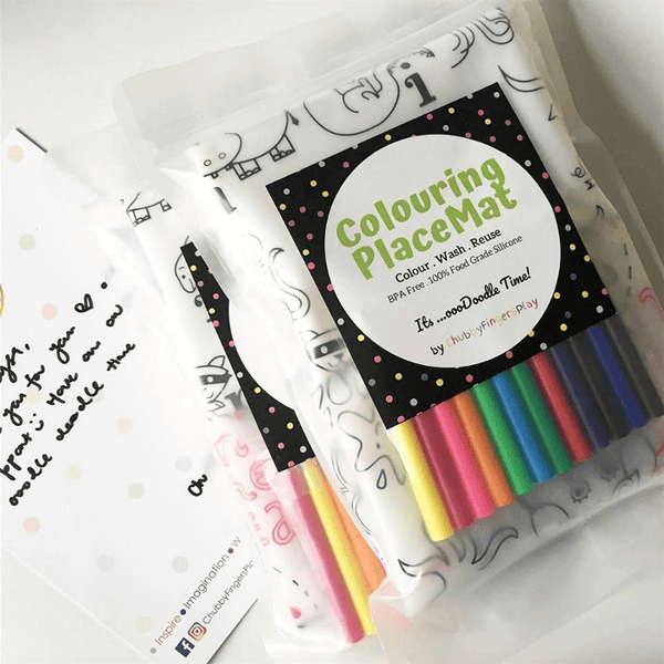ChubbyFingersPlay Colouring PlaceMat Set