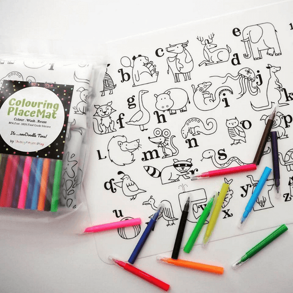 ChubbyFingersPlay Colouring PlaceMat Alphabet