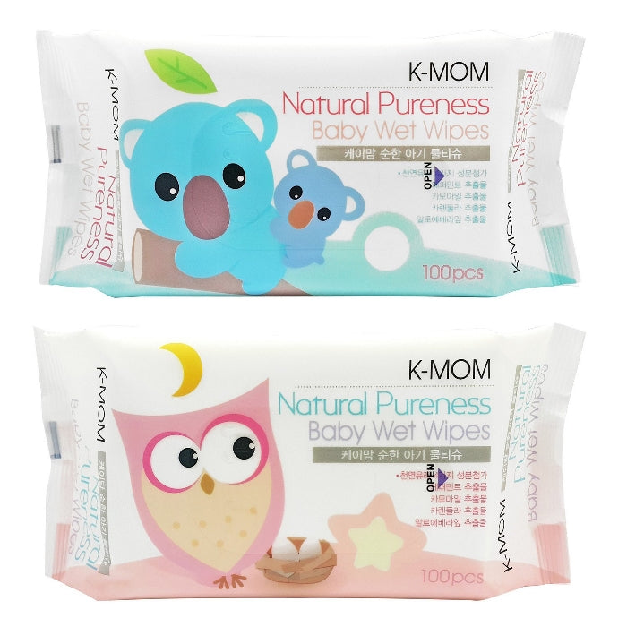 K-Mom Natural Pureness Baby Wet Wipes 100Pcs