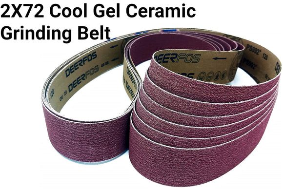 2X72 Sanding Sharpening Belts Ceramic Cool Gel - Belts for Stock removal and General Grinding