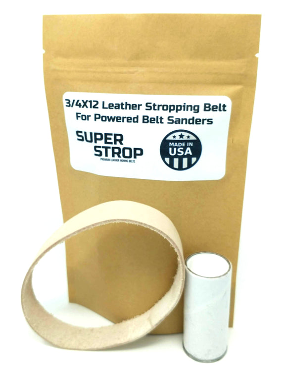 3/4X12 in. Leather Honing Belt SUPER STROP Fits Ken Onion Work Sharp WSKTSKO