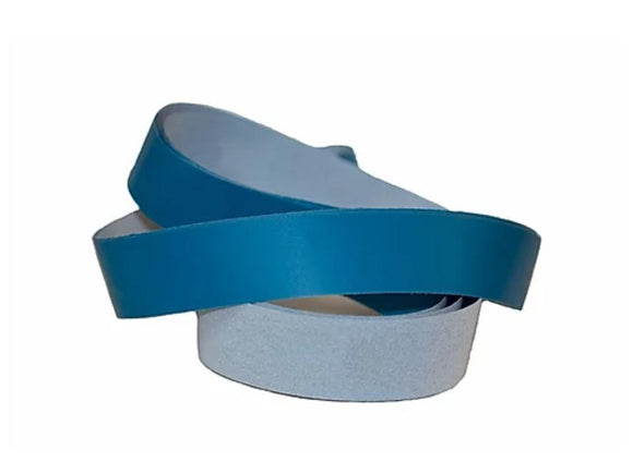 2X72 Blue Micron Polishing Sanding Belts with Cushioned Ultra Flexible Mylar Backing Ultra Fine Grit Belts