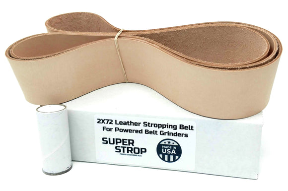 2X72 in. Leather Honing Belt SUPER STROP fits 2X72 Belt Grinders