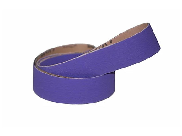 2X72 Premium High Performance Purple Ceramic Sanding Belts Metal Grinding 3Pk
