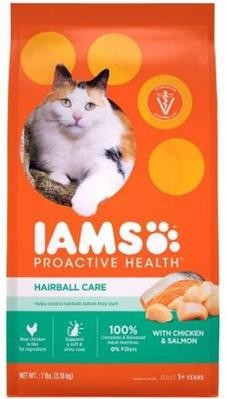 IAMS CAT HAIRBALL CARE CHICKEN & SALMON 3.18KG