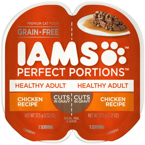 IAMS PERFECT PORTION HEALTHY ADULT CHICKEN 37.5GX2