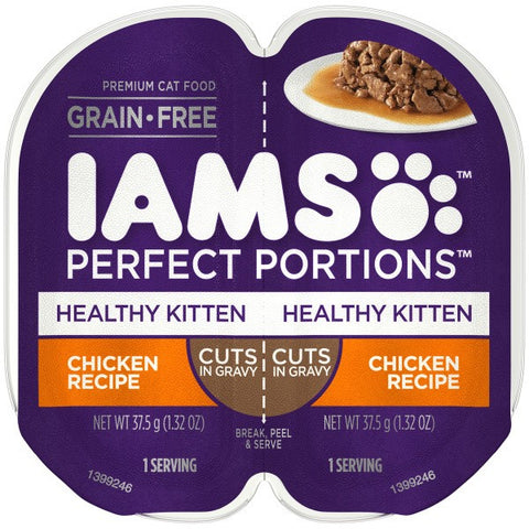 IAMS PERFECT PORTION HEALTHY KITTEN CHICKEN 37.5GX2