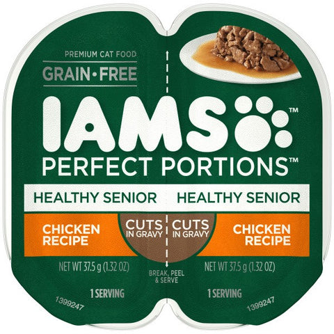 IAMS PERFECT PORTION HEALTHY SENIOR CHICKEN 37.5GX2