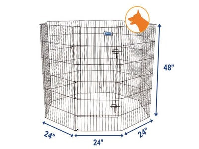 PETMATE EXERCISE PEN WITH DOOR 120CM BLACK