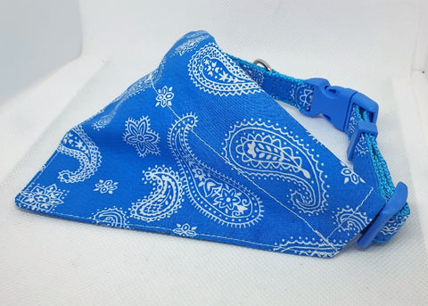 BANDANA SCARF DOG COLLAR SET 10X330MM SKYBLUE