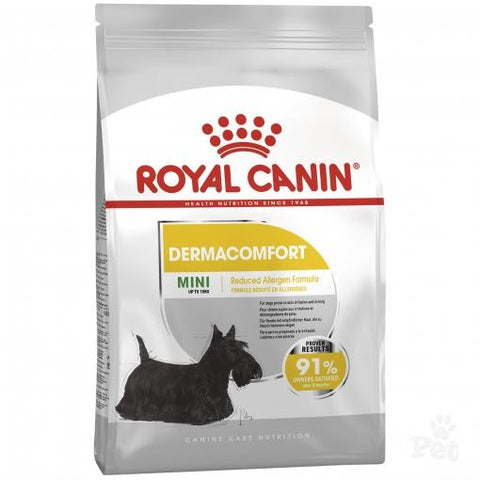 ROYAL CANIN CANINE CARE DRY MINI DERMACOMFORT NEW BAG SIZE 3KG