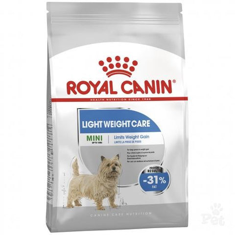 ROYAL CANIN CANINE CARE DRY MINI LIGHT WEIGHT CARE NEW BAG SIZE 3KG
