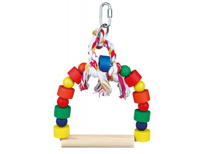 Arch Swing with colourful blocks - 19x13cm ^5828