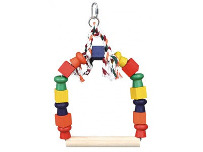 Arch Swing with colourful blocks - 29x20cm ^5829