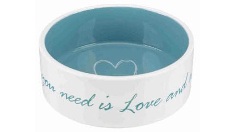 PET'S HOME CERMAIC BOWL 16CM TEAL