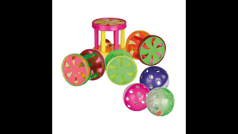 BALLS & ROLLS WITH BELL 4.5CM ASSORTED