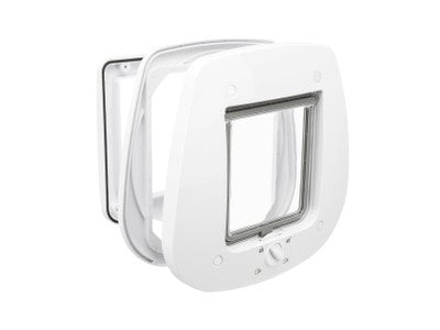 Trixie Cat Door 4-Way with Tunnel - White ^44231