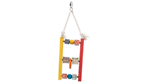 Trixie Wooden Ladder with Blocks - 3 Rung ^44cm