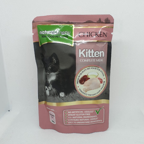 NATURES MENU KITTEN CHICKEN 100GM