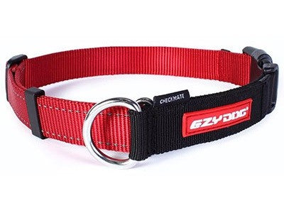 ED COLLAR CHECKMATE SMALL RED ^CCMSR