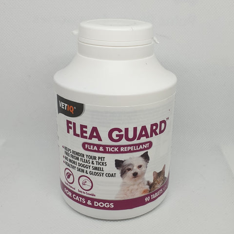 VETIQ FLEA GUARD FLEA & TICK REPELLANT FOR CATS & DOGS 90 TABLETS