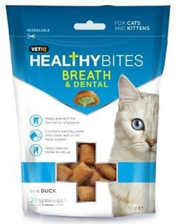 VETIQ HEALTHY BITES BREATH & DENTAL WITH DUCK 65G