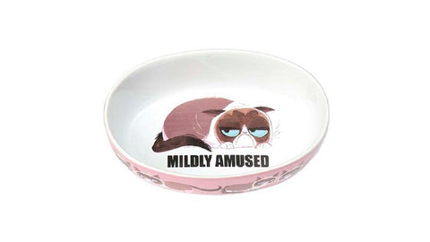 GRUMPY CAT MILDLY AMUSED OVAL PINK ^17cm
