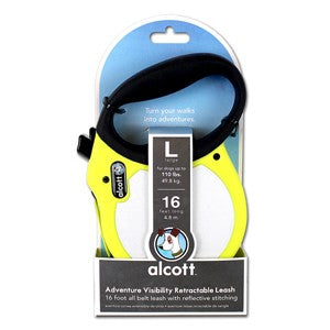 ADVENTURE RETRACTABLE LEAD LARGE YELLOW 4.8M