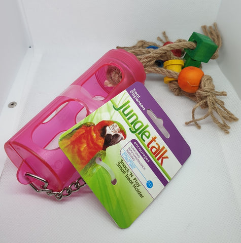 JUNGLE TALK SNACK N PLAY TREAT STICK HOLDER 4""