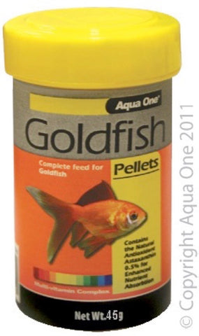 AQUA ONE GOLDFISH PELLET FOOD 1MM 50G
