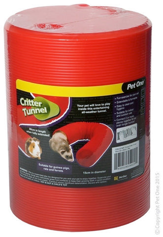 PET ONE TUNNEL CRITTER 15CM DIA X 80CM L RED