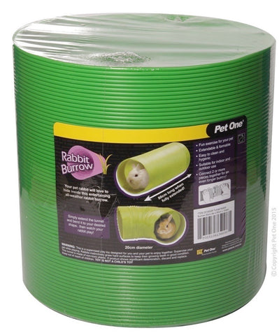 PET ONE TUNNEL CRITTER 20CM DIA X 80CM L GREEN