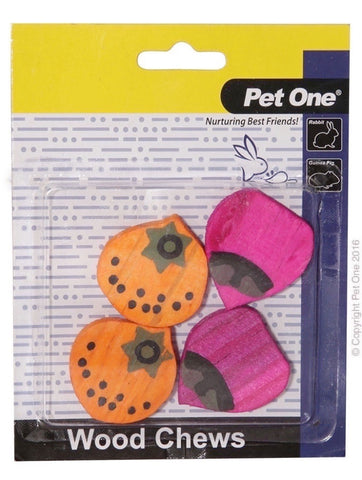 PET ONE WOODEN CHEWS FOR SMALL ANIMAL 4 PACK (S)