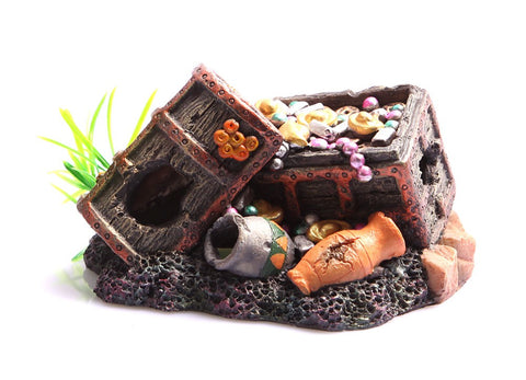 ORNAMENT SUNKEN TREASURE CHEST LARGE