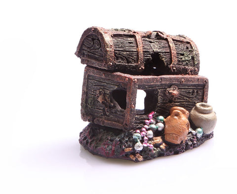 ORNAMENT SUNKEN TREASURE CHEST SMALL
