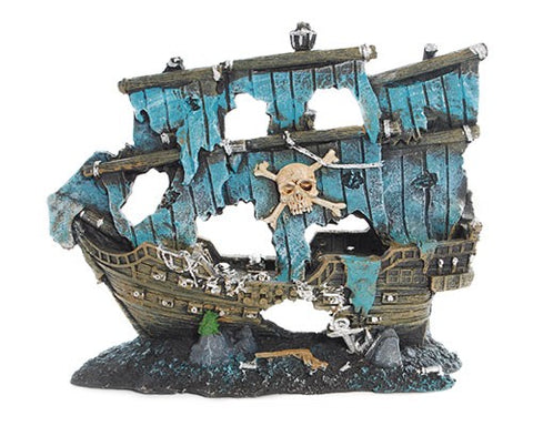 A/ORN SHIPWRECK PIRATE 21X8X18CM