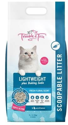 TROUBLE & TRIX LIGHTWEIGHT SCOOPABLE LITTER 7L